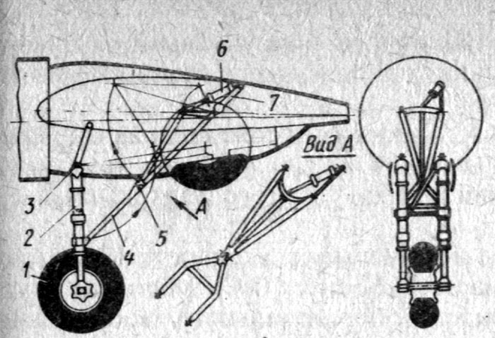 схема шасси самолета ДБ-3