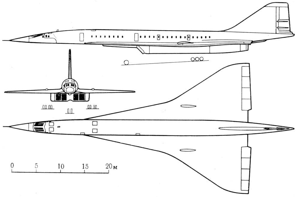 Схема Ту-144 («044»)