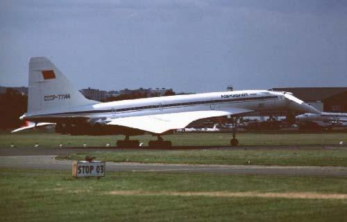 Ту-144 № 77144 в Ле-Бурже '75