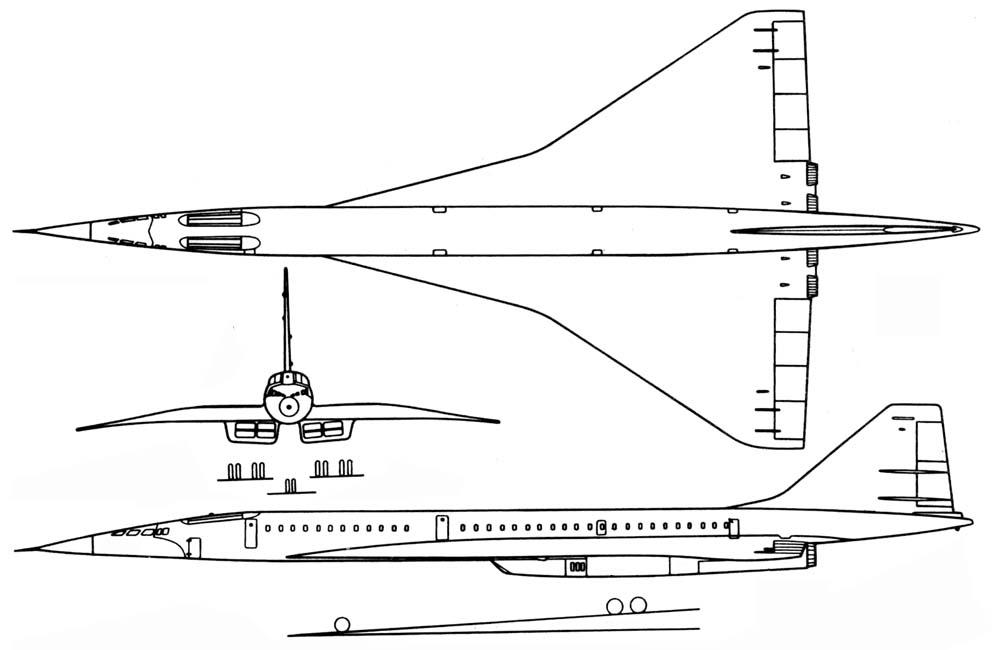 Схема Ту-144